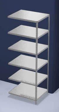 hofe Schraubregal, Bauart leicht, verzinkt - Regalhöhe 2500 mm, Bodenbreite 1000 mm