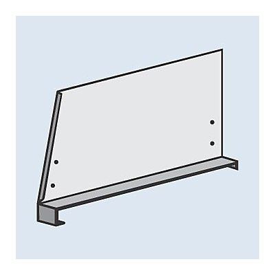 Fachteiler für System-Steckregal - mit Klemmfuß, Höhe 300 mm