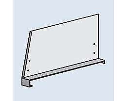 hofe Fachteiler für System-Steckregal - mit Klemmfuß, Höhe 300 mm - für Bodentiefe 400 mm, lichtgrau RAL 7035