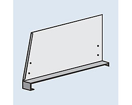 hofe Fachteiler für System-Steckregal - mit Klemmfuß, Höhe 300 mm - für Bodentiefe 500 mm, lichtgrau RAL 7035