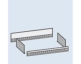 hofe Aufsatzmulde - Breite 1000 mm - für Bodentiefe 400 mm, verzinkt