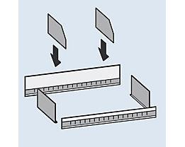 Trennblech - Höhe 200 mm - für Aufsatzmulde, Bodentiefe 600 mm