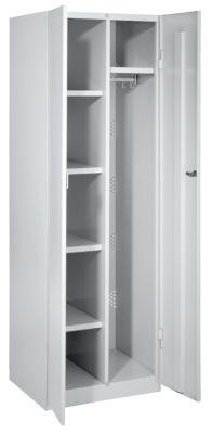 Stahlschrank - Breite 600 mm, 4 Böden, 1 Garderobe Türen