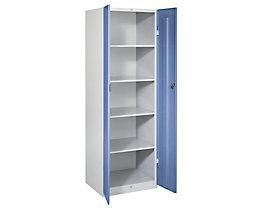 Wolf Stahlschrank - Breite 600 mm, 4 Böden - Türen taubenblau