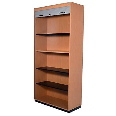office akktiv CARINA Rollladenschrank, Vertikal-Jalousie - 4 Fachböden, 5 Ordnerhöhen