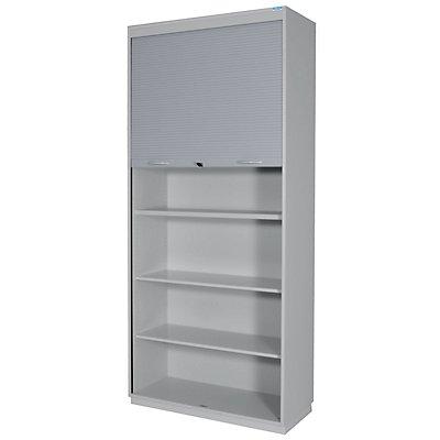 office akktiv CARINA Rollladenschrank, Vertikal-Jalousie - 5 Fachböden, 5,5 Ordnerhöhen