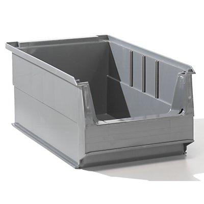 Lockweiler Sichtlagerkasten aus PE-Regenerat - Inhalt 7,2 l, VE 14 Stk