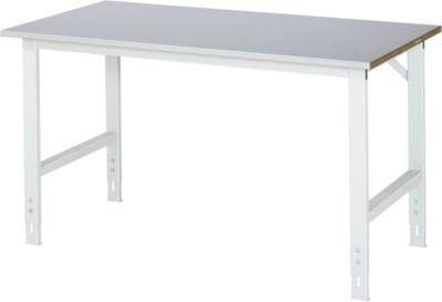 RAU Arbeitstisch, höhenverstellbar - 760 – 1080 mm, Stahlblechbelag-Platte