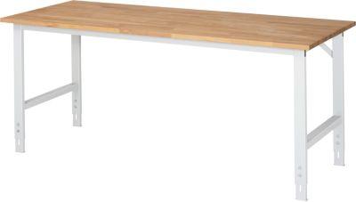 RAU Arbeitstisch, höhenverstellbar - 760 – 1080 mm, Buchenplatte massiv