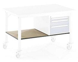 Ablageboden unten - für Tisch- BxT 1250 x 800 mm - Boden- BxT 1140 x 595 mm