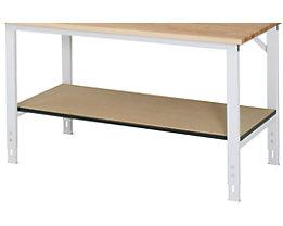 Ablageboden unten - für Tisch- BxT 1500 x 800 mm - Boden- BxT 1390 x 595 mm