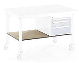 Ablageboden unten - für Tisch- BxT 2000 x 800 mm - Boden- BxT 1890 x 595 mm