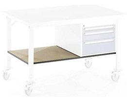 RAU Ablageboden unten - für Tisch- BxT 2000 x 1000 mm - Boden- BxT 1890 x 796 mm