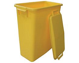Steckdeckel, mit 2 Handgriffen - für Inhalt 60 l, lose aufliegend - gelb