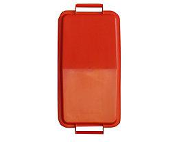 Steckdeckel, mit 2 Handgriffen - für Inhalt 60 l, lose aufliegend - rot