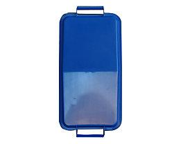 Steckdeckel, mit 2 Handgriffen - für Inhalt 60 l, lose aufliegend - blau
