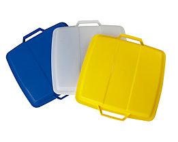 Steckdeckel, mit 2 Handgriffen - für Inhalt 90 l, lose aufliegend - gelb
