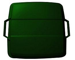 Steckdeckel, mit 2 Handgriffen - für Inhalt 90 l, lose aufliegend - grün