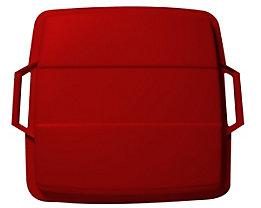 Steckdeckel, mit 2 Handgriffen - für Inhalt 90 l, lose aufliegend - rot