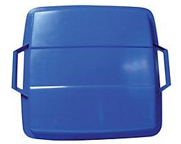 GRAF Steckdeckel, mit 2 Handgriffen - für Inhalt 90 l, lose aufliegend - blau