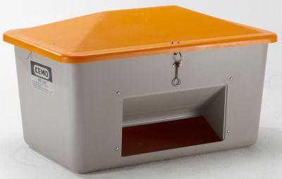 CEMO Streugutbehälter aus GfK - mit Entnahmeöffnung