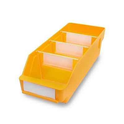 STEMO Regalkasten aus hochschlagfestem Polypropylen - gelb