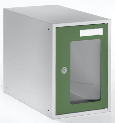 QUIPO Schließfachwürfel mit Sichtfenster - HxBxT 350 x 250 x 450 mm