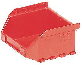 FUTURA-Sichtlagerkasten aus Polyethylen - Inhalt 0,4 l - VE 50 Stk, rot