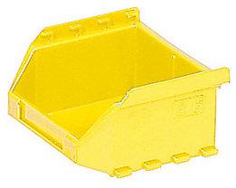 FUTURA-Sichtlagerkasten aus Polyethylen - Inhalt 0,4 l - VE 50 Stk, gelb