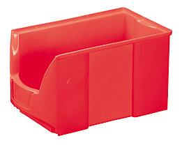 FUTURA-Sichtlagerkasten aus Polyethylen - Inhalt 11,0 l - VE 8 Stk, rot