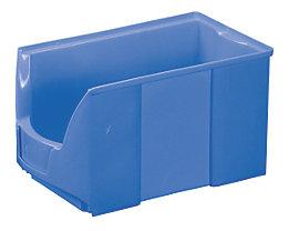 FUTURA-Sichtlagerkasten aus Polyethylen - Inhalt 11,0 l - VE 8 Stk, blau