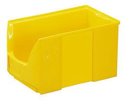 FUTURA-Sichtlagerkasten aus Polyethylen - Inhalt 11,0 l - VE 8 Stk, gelb