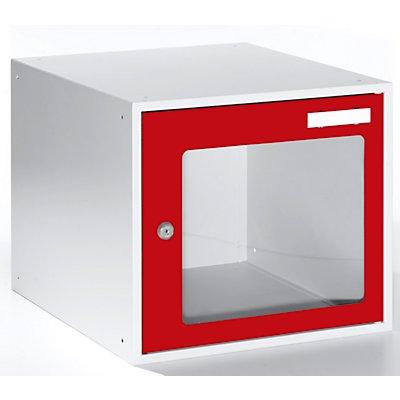 QUIPO Schließfachwürfel mit Sichtfenster - HxBxT 350 x 400 x 450 mm