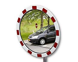 Miroir de circulation routière en verre acrylique - cadre en polystyrène, rond