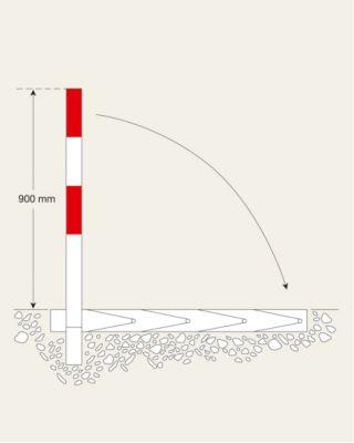 Sperrpfosten - Modell B, mit Dreikantverschluss