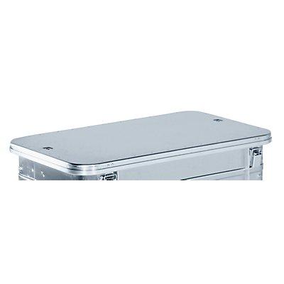 Deckel, anscharniert - für Behälter LxB 950 x 550 mm - Mehrpreis