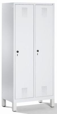 CP Garderobenschrank mit Kunststoff-Füßen - Abteilbreite 400 mm, HxBxT 1850 x 800 x 500 mm