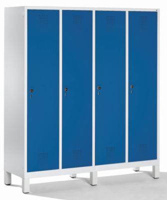 CP Garderobenschrank mit Kunststoff-Füßen - Abteilbreite 400 mm, HxBxT 1850 x 1600 x 500 mm