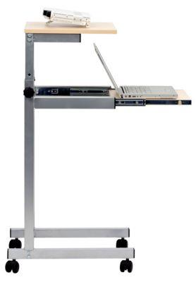Projektorwagen mit Laptop-Auszug - höhenverstellbar - Ebenen in Ahorn-Dekor