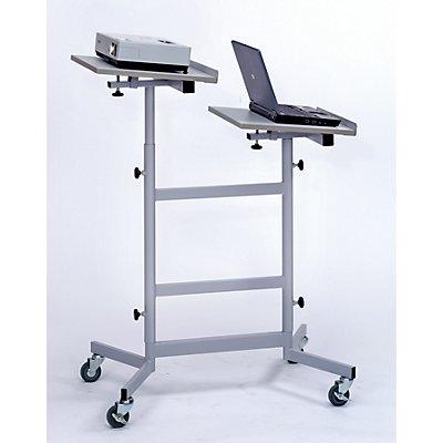 Beamer-Laptop-Cart - höhenverstellbare Plattformen - höhenverstellbar 970 – 120 mm