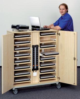 Laptop-Locker - mit Ablagen für 16 Laptops - inklusive 18 Steckdosen
