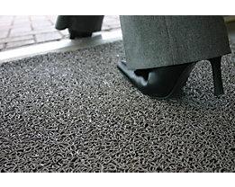 Schmutzfangmatte, schwer entflammbar - LxB 3000 x 900 mm, VE 1 Stk - grau