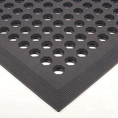 COBA Bodenmatte - Komfort-Bodenmatte - Naturgummi, schwarz
