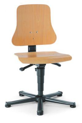 bimos Arbeitsdrehstuhl – SOLITEC - Sitzfläche Buchenschichtholz