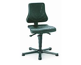 bimos Arbeitsdrehstuhl – SOLITEC - Sitzfläche Integralschaum - mit Gleitern, Höhenverstellbereich 440 – 590 mm