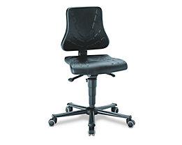 bimos Arbeitsdrehstuhl – SOLITEC - Sitzfläche Integralschaum - mit Rollen, Höhenverstellbereich 440 – 590 mm