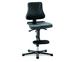 bimos Arbeitsdrehstuhl – SOLITEC - Sitzfläche Integralschaum - mit Gleitern und Aufstieghilfe, Höhenverstellbereich 600 – 875 mm