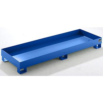 QUIPO Auffangwanne aus Stahlblech - LxBxH 2400 x 800 x 250 mm
