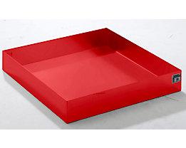 QUIPO Paletten-Auffangwanne - LxBxH 1200 x 1200 x 185 mm, rot RAL 3000