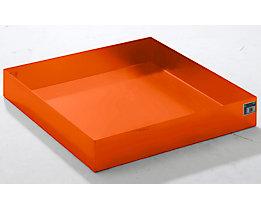 QUIPO Paletten-Auffangwanne - LxBxH 1200 x 1200 x 185 mm, orange RAL 2000